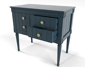 3D model MADE Bourbon Vintage cabinet Dark Blue and Brass