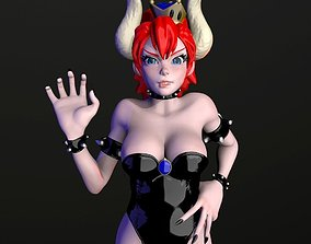 crown Bowsette Figure 3D print model