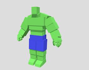 3D model Voxel Hulk