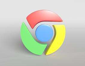 3D model Chrome Logo 001