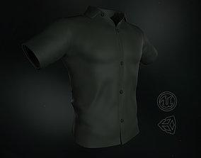 Dark Green Summer Shirt 3D model
