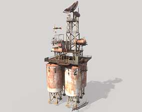 Post-Apocalyptic Outpost Tower 2 3D