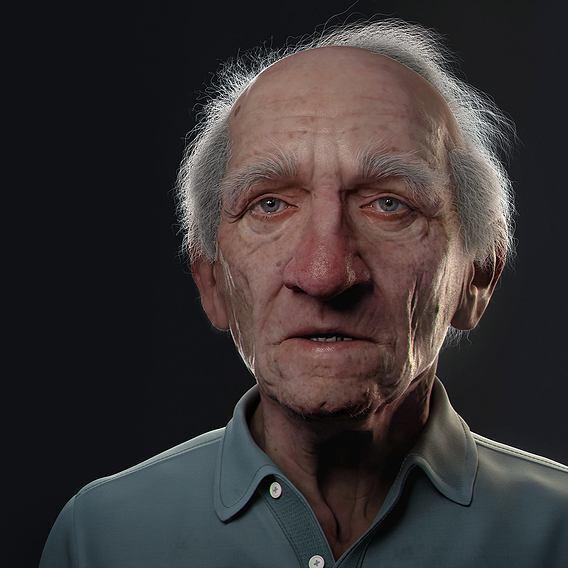 Oldman bust