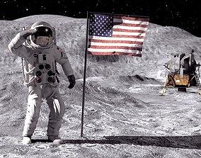 MOON NASA astronaut studio 3dsmax vray rigged