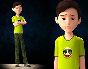 CARTOON BOY - RIGGED 3D model