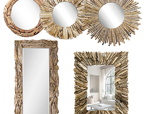 3D model Firewood Mirror Wood