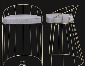 3D model Canary Contemporary Counter Stool