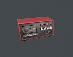 3D model Red Police Tape Recorder