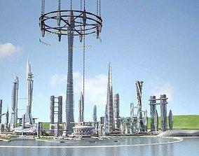 Future City on Earth V1 3D model