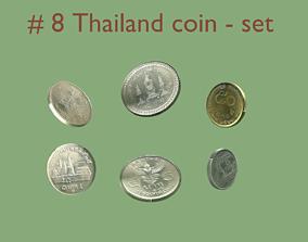 3D Thailand pbr - textured coin - set model - 8