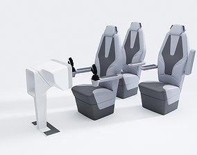 Sci-Fi Chair Set 3D model
