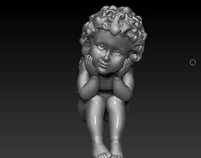 Little angel sculpture 3D printable model