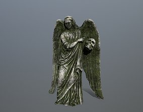 Angel Statue 3 3D model game-ready