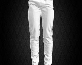 Men white pants 3D model