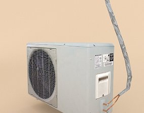 3D asset Air Conditioner Low Poly