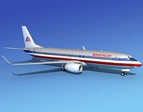 3D Boeing 737-800 American Airlines