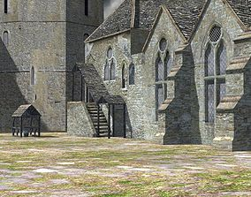 Fortified Manor for Poser 3D model