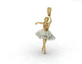 3D printable model ballerina jewelry