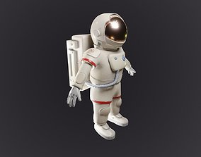 CARTOON ASTRONAUT 3D model apollo