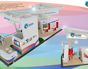Booth DSM design size 15 x 6 m 90 sqm 3D model