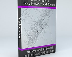 3D model Yakutsk Road Network and Streets