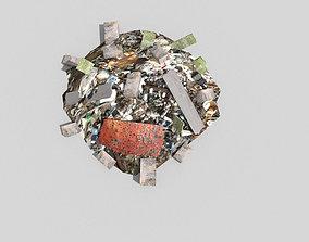 3D asset realtime Debris Pile