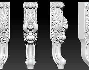 CABRIOLE CARVED Furniture Leg 3D Models set - 1