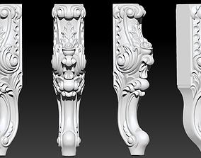 CABRIOLE CARVED Furniture Leg 3D Models set -