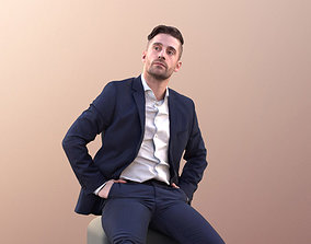 Tony 10641 - Business Man Sitting And Looking 3D model