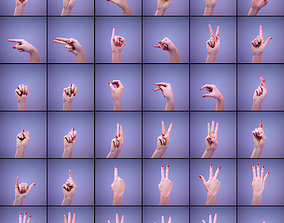 American Sign Language Alphabet and Numbers 3D letter