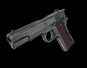 Colt M1911A1 3D asset game-ready