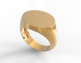 3D print model simple oval man ring