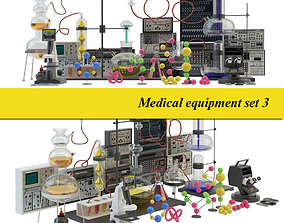 Medical laboratory set 3 3D
