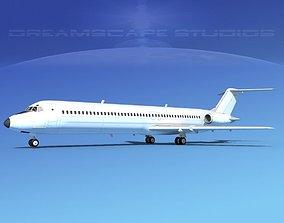 Douglas DC-9-50 Unmarked 2 3D