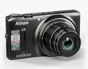 3D model Nikon Coolpix S9500 compact digital camera