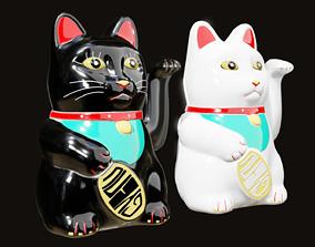 Maneki Neko - Chinese Paw Swinging Lucky Cat 3D