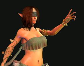 Female Elf Druid 3D asset