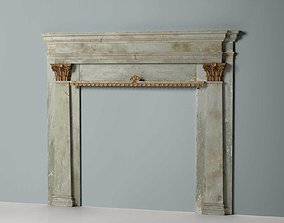 Classic Marble Fireplace 03 3D model
