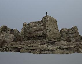 rocks 3D model VR / AR ready forest