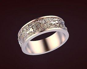 ring wolf 3D print model husky