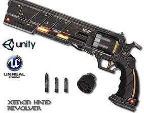 Xenon Hand Revolver 3D asset