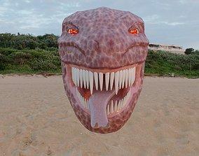 Sculpted Monster Head 001 3D