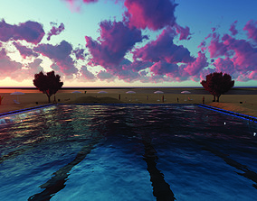 architecture 3D model Swimming Pool