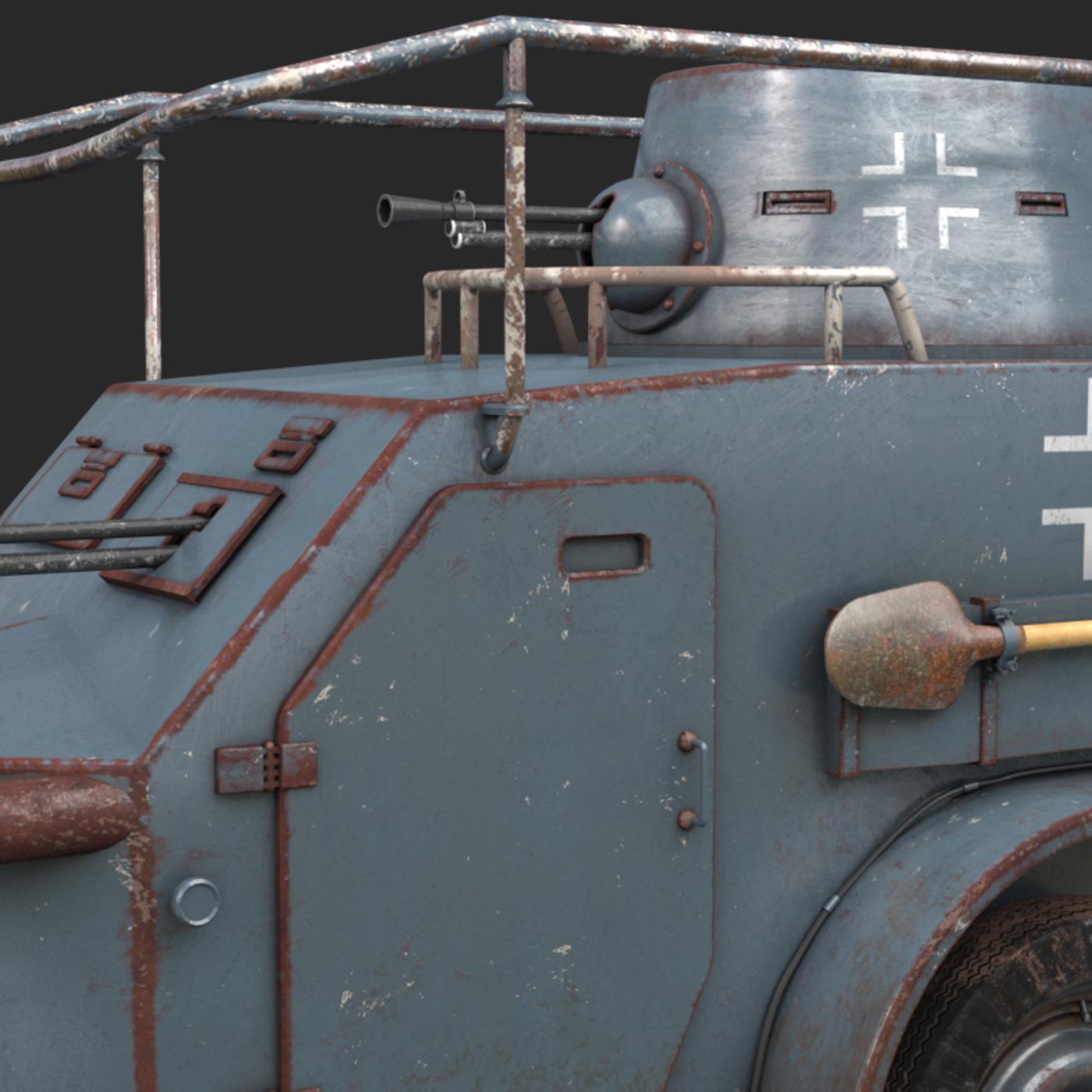 OA vz 30 Armoured Car German Vray