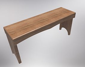 5 board benchwith plans 3D