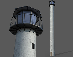 3D model Lookout tower high sightseeing or lighthouse