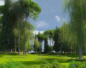 3D model Golf Course 01