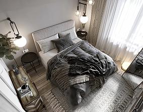 3D Scandinavian style bedroom