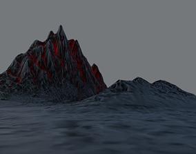Mountain - PBR 3D model low-poly