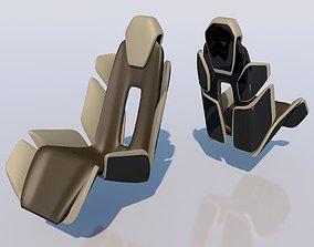 3D printable model concept car seat